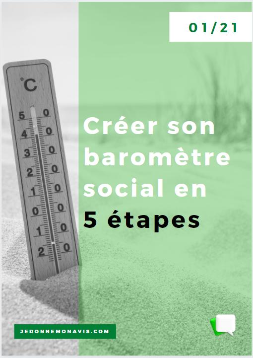 Créer son baromètre social en 5 étapes